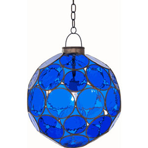 Cobalt Lantern Bronze and Blue One-Light Pendant