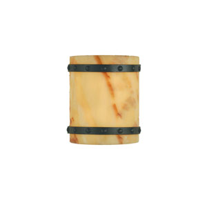 Fiore Bronze with Amber Onyx Two-Light Wall Sconce