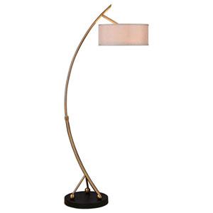 Vardar Brushed Brass Two-Light Floor Lamp
