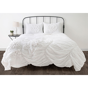 Hush White King Comforter Bed Set