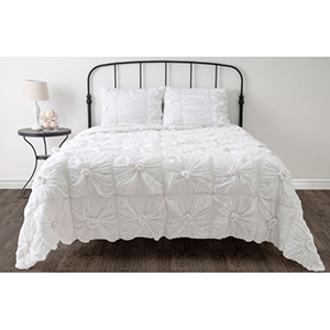 Day Dream White Twin Comforter Bed Set