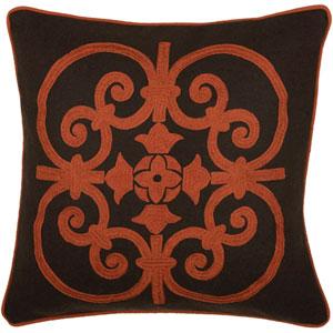 Rizzy Home Rust 18 Inch X Pillow Cover With Hidden Zipper