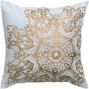 Navy and Gold 18 x 18-Inch Pillow with Hidden Zipper