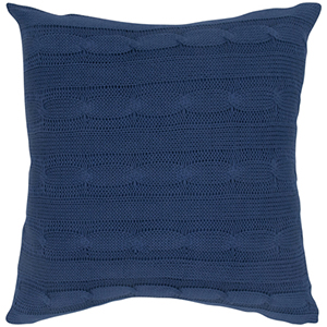 Navy 18 x 18-Inch Pillow with Wooden Button Closure