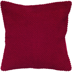 Red 20 x 20-Inch Pillow with Hidden Zipper