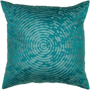 Peacock Blue 18 x 18-Inch Pillow with Hidden Zipper