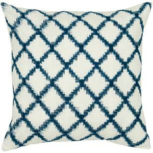 Navy and Cream 18 x 18-Inch Pillow with Hidden Zipper