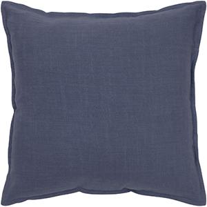 Navy 20 x 20-Inch Pillow with Hidden Zipper