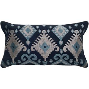 Navy 11 x 21-Inch Pillow with Hidden Zipper