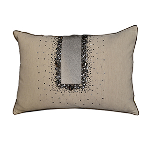 Karia Wheat Linen Decorative Pillow