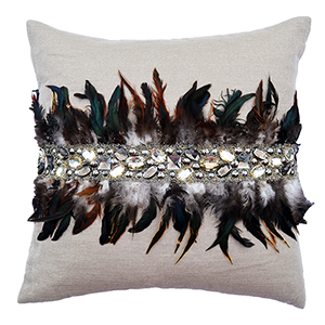 Abby Wheat Linen Decorative Pillow