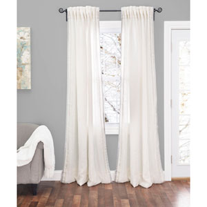 Sintra Ivory 120 x 54 In. Linen Curtain Panel