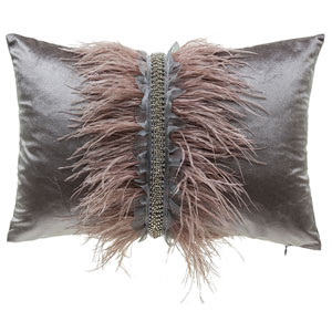 Ava Grey 14 x 20 In. Decorative Pillow