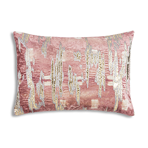 Boheme Pink Velvet Decorative Pillow