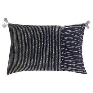 Boheme Charcoal Velvet Decorative Pillow