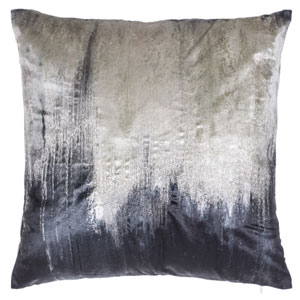 Capri Charcoal 22 In. Decorative Pillow