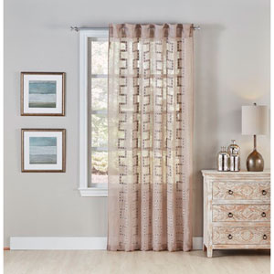 Lilly Beige 96 X 54-Inch Window Panel