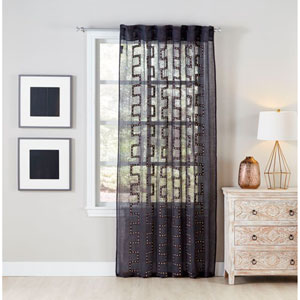 Lilly Charcoal 96 X 54-Inch Window Panel