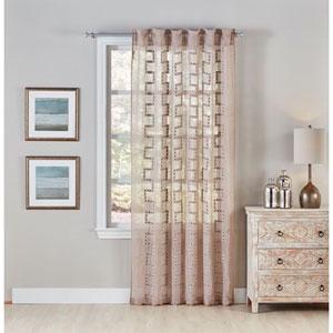 Lilly Beige 120 X 54-Inch Window Panel