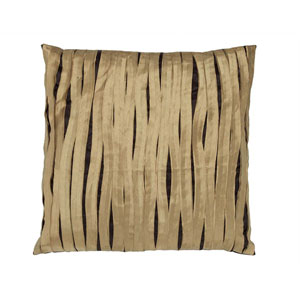 Crazy Stripe  Chocolate Pillow With Yellow Stripe