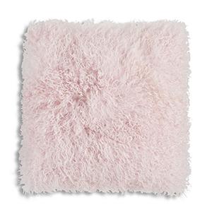 Luna Pink Sheep Skin Fur Decorative Pillow