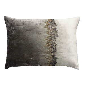 Raina Charcoal 14 x 20 In. Decorative Pillow
