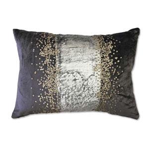 Raina Charcoal 14 x 20 In. Decorative Pillow