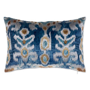 Serino Blue 14 x 20 In. Decorative Pillow