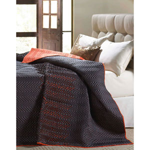 Tangier Charcoal Queen Three-Piece Quilt Set