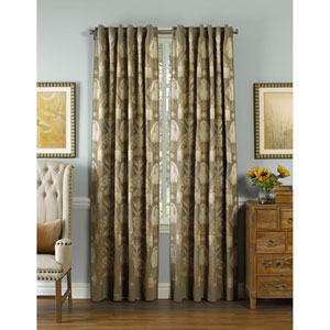 Zirara Silver 120 x 54 In. Linen Curtain Panel