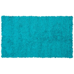 Shaggy Raggy Teal Rectangular: 4 Ft. 7 In. x 7 Ft. 7 In. Rug