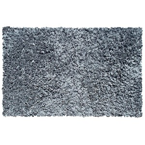 Shaggy Raggy Gray Round: 4 Ft. x 4 Ft. Rug