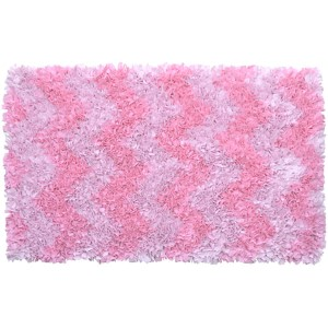 Shaggy Raggy Pink Rectangular: 2 Ft. 7 In. x 4 Ft. 7 In. Rug