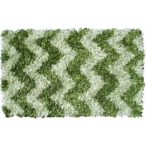 Shaggy Raggy Green Rectangular: 4 Ft. 7 In. x 7 Ft. 7 In. Rug