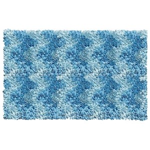 Shaggy Raggy Blue Rectangular: 2 Ft. 7 In. x 4 Ft. 7 In. Rug