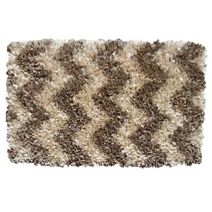 Shaggy Raggy Natural Rectangular: 2 Ft. 7 In. x 4 Ft. 7 In. Rug