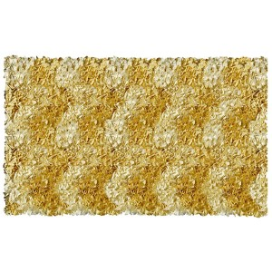Shaggy Raggy Yellow Rectangular: 4 Ft. 7 In. x 7 Ft. 7 In. Rug