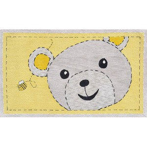 Animal Yellow and Black Rectangular: 2 Ft. 8 In. x 4 Ft. 8 In. Rug