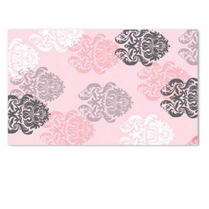 Kids Brocade Pink Rectangular: 4.7 Ft. x 7.7 Ft.