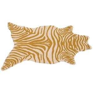 Zebra Yellow and White Rectangular: 5 Ft. x 8 Ft. Rug