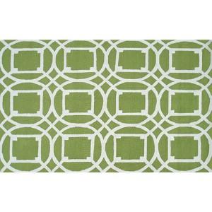 Moderna Green and White Rectangular: 5 Ft. x 7 Ft. 6 In. Rug
