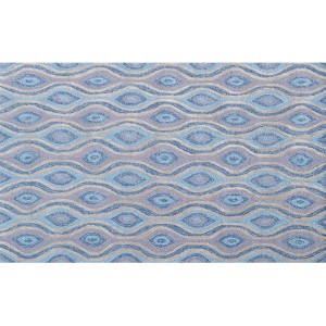 Ethnic Blue and Gray Rectangular: 5 Ft. x 7 Ft. 6 In. Rug