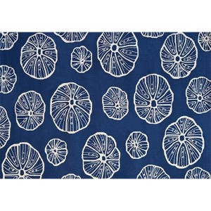 Aquatic Jellyfish Blue and White Rectangular: 5 Ft. x 8 Ft. Rug