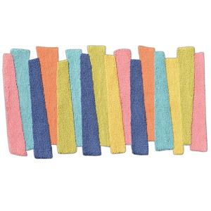 Stripes Multicolor Rectangular: 2 Ft. 8 In. x 4 Ft. 8 In. Rug