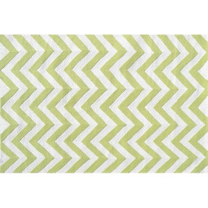 Chevron Lime and White Rectangular: 5 Ft. x 7 Ft. 6 In. Rug