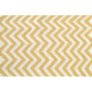 Chevron Yellow and White Rectangular: 5 Ft. x 7 Ft. 6 In. Rug