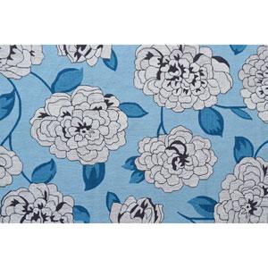 Resort Usuzumi Blue and Ivory Rectangular: 5 Ft x 8 Ft Rug