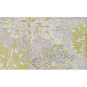 Camden Astra Gray and Ivory and Green Rectangular: 5 Ft. x 8 Ft.