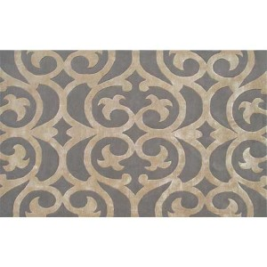 Bellagio Silver and Bronze Rectangular: 5 Ft. x 8 Ft. Rug