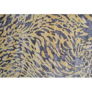 Exotic Gray and Yellow Rectangular: 5 Ft. x 8 Ft. Rug